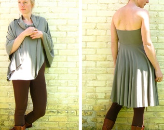 Organic Cotton & Bamboo Simple Skirt or Poncho