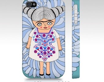 Phone Case - iphone - samsung - Frida dreams - Frida Kahlo - blue