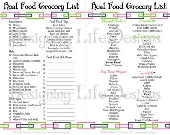 Real Food Printable Kitchen Set - Mini Binder Pages
