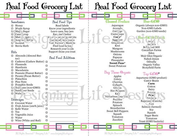 Real Food Printable Kitchen Set Mini Binder Pages