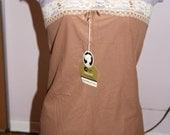 Vintage Pant Slip Nylon Tricot Coffee colour Cameo Brand Size 32 NOS