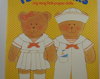 vintage paper doll book, Teddy Bears: My Very First Paper Dolls