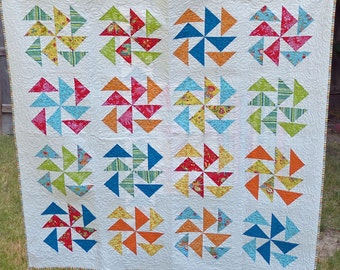 Gaggle of Geese quilted throw