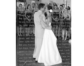 Personalized Custom Canvas Photo art Art Words, Love is Patient Custom Typography Canvas Wall Hanging  18X24