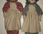 Raggedy Prairie Bag Doll E-Pattern,  PDF, Downloadable Digital Pattern