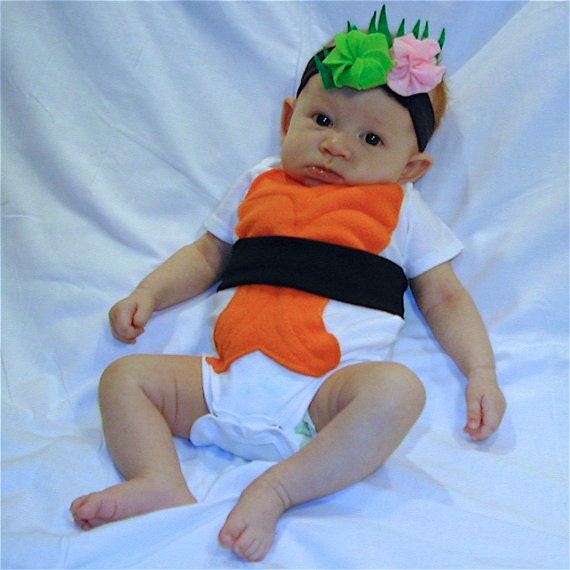 Diy do it yourself baby costume halloween costume sushi like this item solutioingenieria Gallery