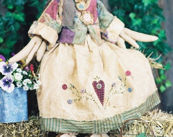 Cloth Doll E-Pattern - 26in Country Goose Epattern