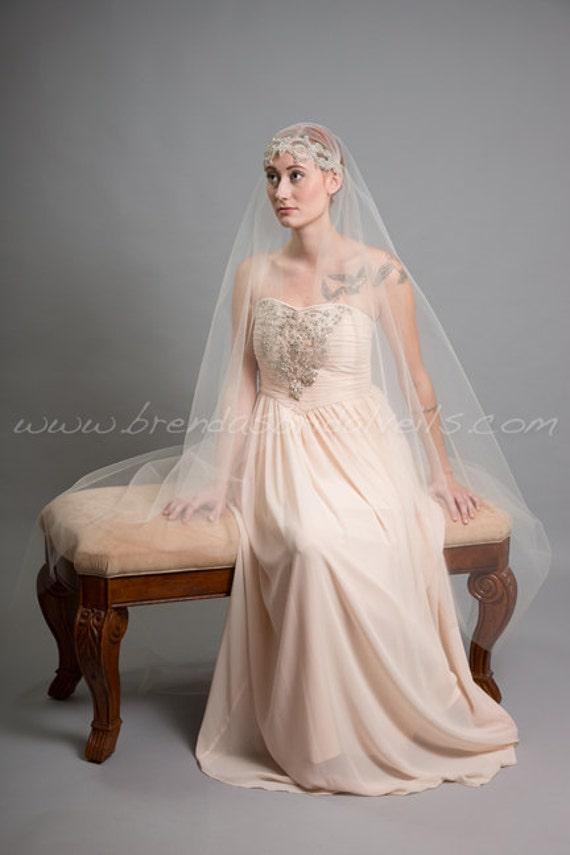 Rhinestone Juliet Cap Veil Great Gatsby Bridal Veil 1920s
