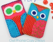 PDF Felt Craft Pattern Owl Phone Case Hand Sewing Embroidery