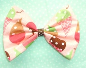 SALE Medium Yummy ice cream Bow hair clip