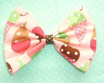 SALE Medium Yummy ice cream Bow hair clip