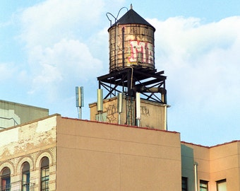 New York Water Towers 4, NY Scenes, Urban Landscapes, Art, Square format Photography Print, signed.