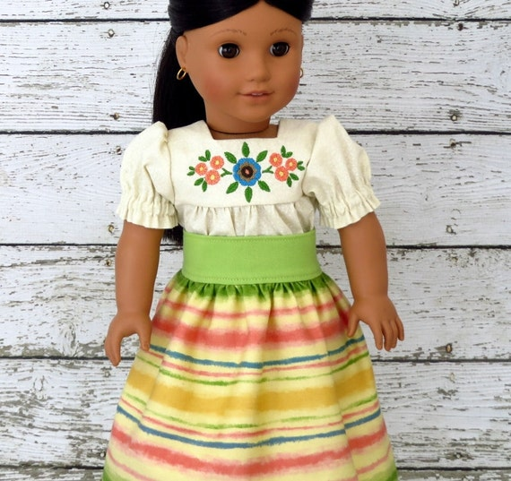 Josefina Birthday Dress: Josefina Camisa And Skirt American Girl Doll Clothes Spring