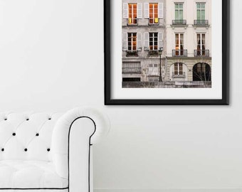 "Paris Print, ""Dusk Window"" Extra Large Wall Art Print, Paris Photography, Oversized Art, Living Room Decor"