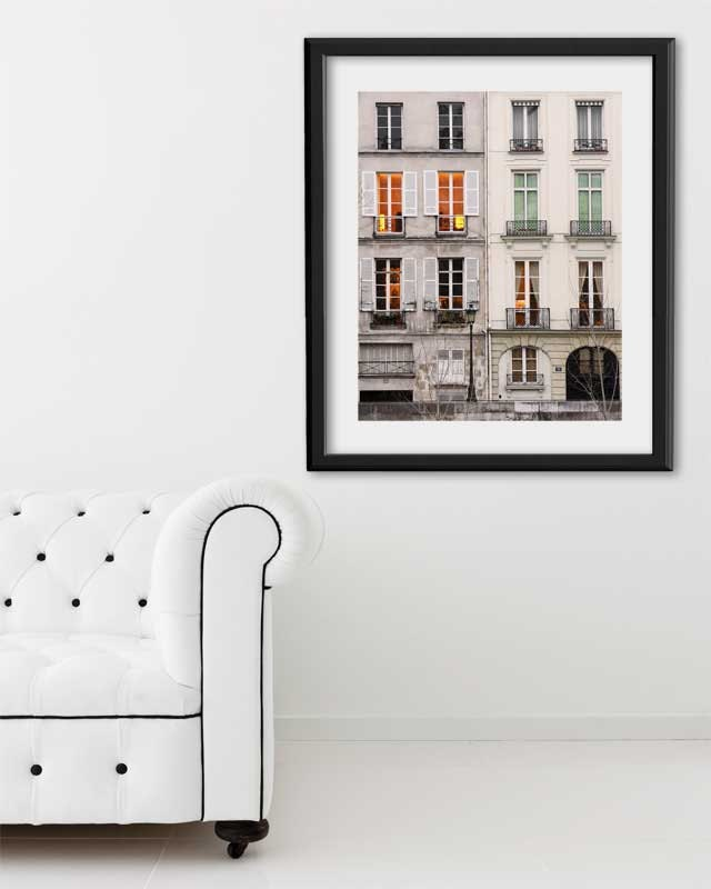 "Paris Print, ""Dusk Window"" Extra Large Wall Art, Paris Photography Art Print, Oversized Art, Fine Art Photography Paris Decor"