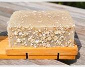 Goat Milk Rough & Naked Handmade Soap - Oats for Exfoliation - Fragrance Free