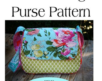 Mini Messenger Bag Pattern,Purse Pattern PDF Sewing Pattern Ebook Sewing Tutorial INSTANT DOWNLOAD