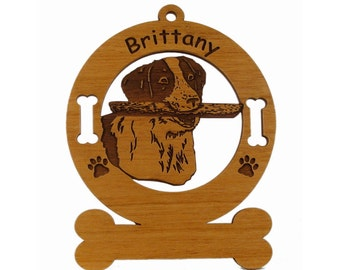 1991 Brittany Fetching Personalized Ornament