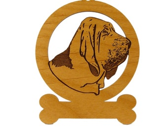 Bloodhound Head Ornament 081805 Personalized With Your Dog's Name