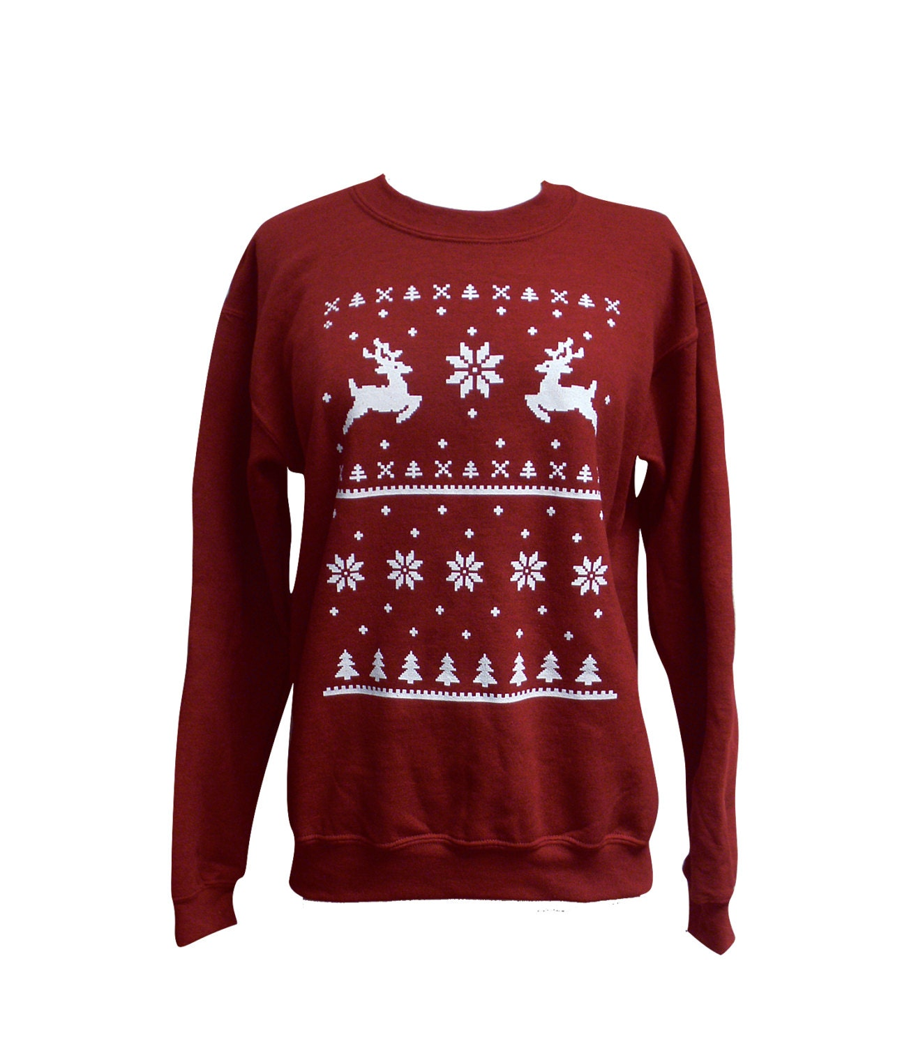 Deer Ugly Christmas Sweater Reindeer Sweatshirt Unisex