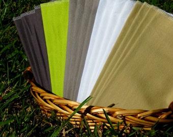 Napkins - 20 Cloth Napkins - Reusable Paper Towels - Unpaper Towels Set of 20 - Winter Glade - 10 x 12 Single Layer