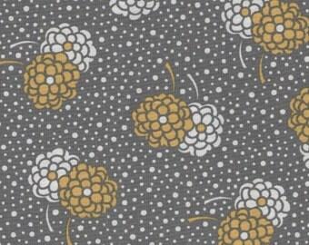 Grey Dotty Mums Print 100% Cotton Quilting Fabric