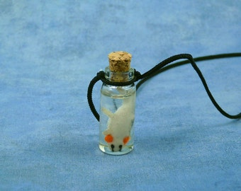 Axolotl Specimen Jar Necklace, Handmade Biology Jewelry