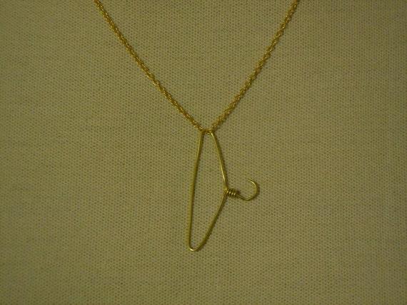 Necklace Coat Hanger Gold