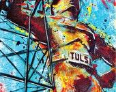 Tulsa's Golden Driller - 18 x 24 High Quality Pop Art Print (RESERVED FOR DUSTIN)