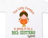 Halloween big sister to be shirt  - fall and halloween pregnancy surprise announcement t shirt