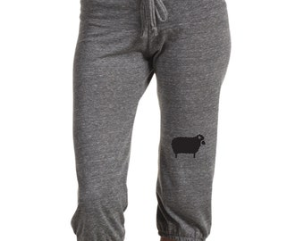 Black Sheep Pants, Yoga Pants Capri pants, Women's Workout Pants, Gift for Her