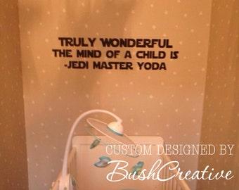Star Wars Vinyl Wall Decal Jedi Yoda 013