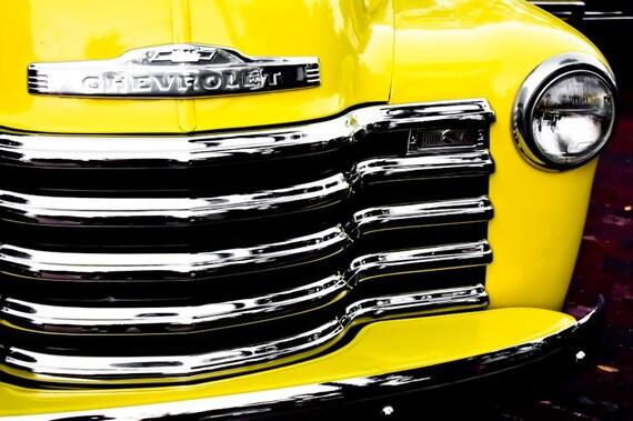 Chevrolet 3100 Pickup Truck Car Photography, Automotive, Auto Dealer, Muscle, Sports Car, Mechanic, Boys Room, Garage, Dealership Art
