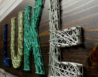 4 Letter Modern String Art Wooden Name Tablet - Made to Order