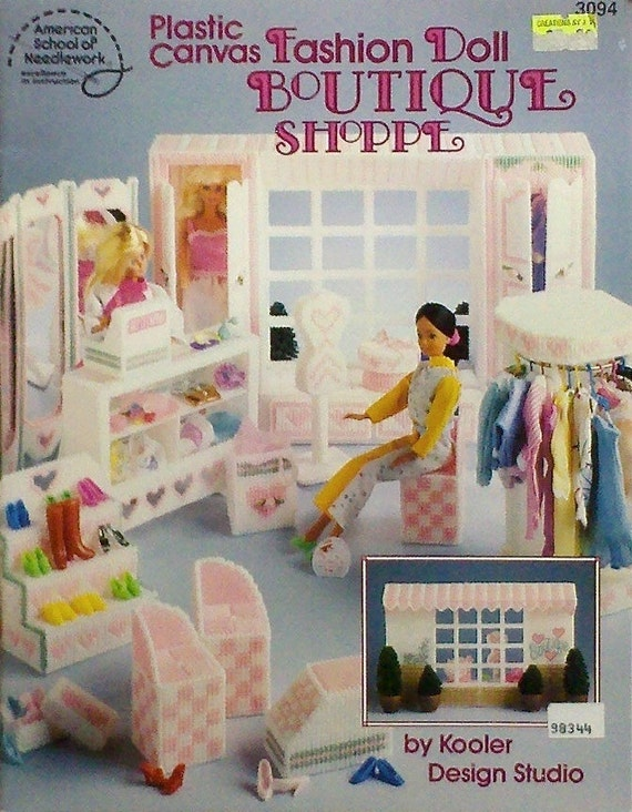 Plastic Canvas Boutique Shoppe Book Fashion Doll Furniture