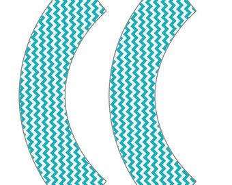 Turquoise Cupcake Wrapper