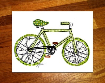 Bike 8x10 Print
