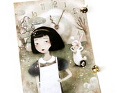 Alice in Wonderland Large Postcard - Art Print Size