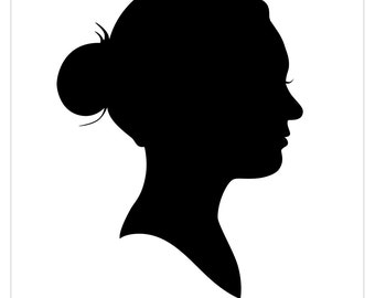 Custom Cut Silhouette Portrait - Unframed - Hand Cut Silhouette Portrait - Various Sizes - Traditional Mothers and Fathers Day Gift