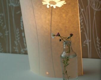 Tall Oval Daisy Table Lamp