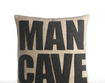 "Decorative Pillow, Throw Pillow, ""Man Cave"" pillow, 16 inch"