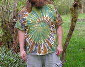 Camouflage Spiral Tie Dye T-Shirt (Made By Hippies Tie Dye In Stock  in Sizes Small to 4XL) (Fruit of the Loom)