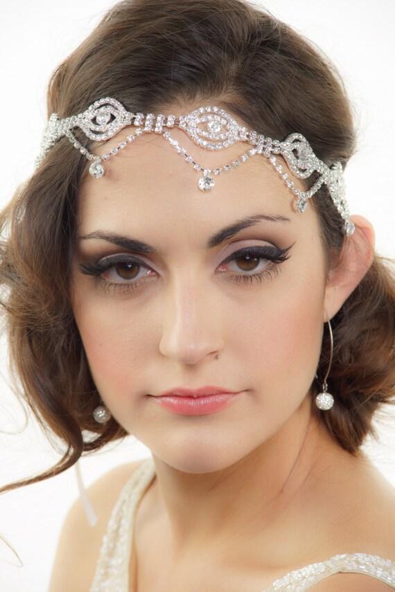 Bridal Headband, Rhinestone headband, Gatsby Art Deco Bridal Headband, Crystal Hair piece, Wedding Headband, Tiara, Bridal Hair Accessories