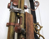 Steampunk No. GN11 Brass & Wood Rifle Blaster with Scope and Functioning Light Laser - SteampunkPerceptions