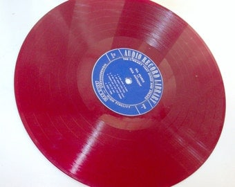Red Translucent Vinyl Long-Play Record