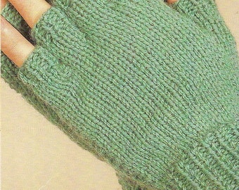 Fingerless Mittens Vintage Knitting Pattern 388