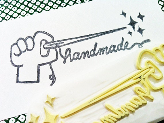 handmade stamp. sewing hand carved rubber stamp. hand lettered stamp. craft stamp for makers artists. making cards gift tags. art journals