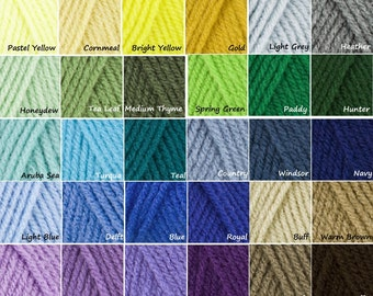 Yarn Colors, Acrylic, Organic Cotton, Fiber, Custom Color Choice, Selection, Option