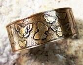Etched Brass Cuff Butterflies