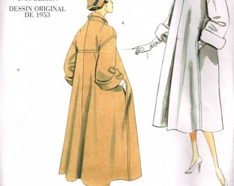 Misses Loose Fitting Coat Vogue 1083 Retro 50s Vintage Model Styled Sewing Pattern Size 6 8 10 12 Bust 30.5 31.5 32.5 34
